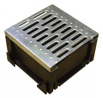 Polypropylene Channel Corner Unit with Galvanised Steel Grate